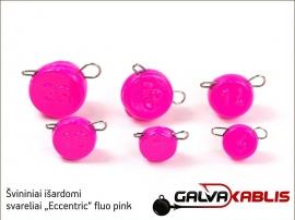 Svininiai svareliai Eccentric fluo pink 02