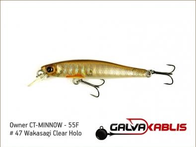 CT-MINNOW - 55F - 47 Wakasagi Clear Holo