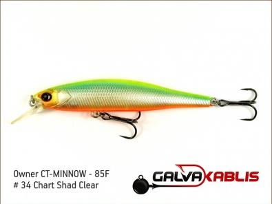 CT-MINNOW - 85F - 34 Chart Shad Clear