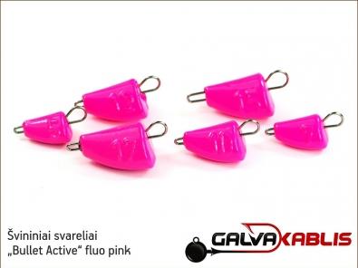 Svininiai svareliai Bullet Active fluo pink 01