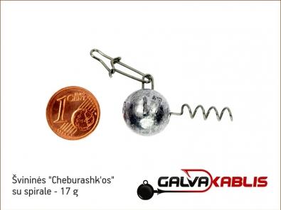 Cheburashkos su spirale 17g