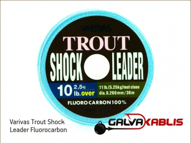 Varivas Trout Shock Leader Fluorocarbon 10lb