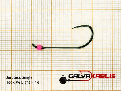 Barbless Single Hooks Size4 2 8 mm