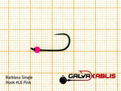 Barbless Single Hooks SizeL6 2 8 mm