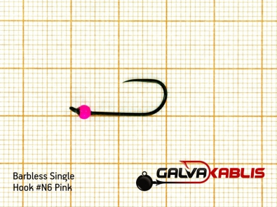 Barbless Single Hooks SizeN6 2 8 mm