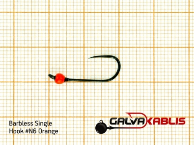 Barbless Single Hooks SizeN6 3 0 mm