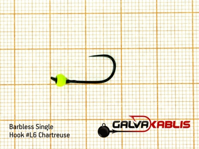 Barbless Single Hooks SizeL6 3 3 mm