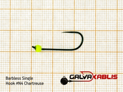 Barbless Single Hooks SizeN4 3 3 mm
