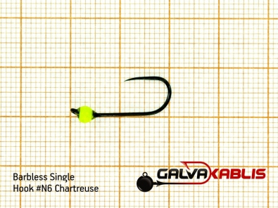 Barbless Single Hooks SizeN6 3 3 mm