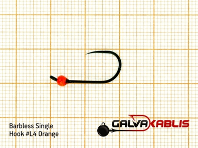 Barbless Single Hooks SizeL4 3 0 mm
