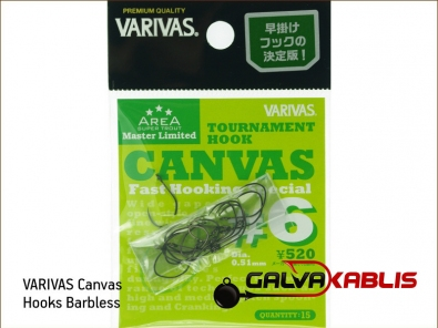 VARIVAS Canvas Hooks Barbless 6