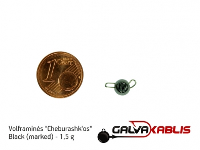 Tungsten Cheburashka Black 1.5g