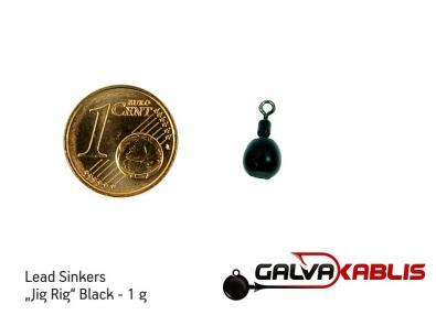 Lead Sinkers Jig Rig Black 1g