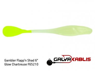Gambler Flappn Shad 6 Glow Chartreuse F65210