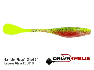 Gambler Flappn Shad 6 Laguna Glass F66810