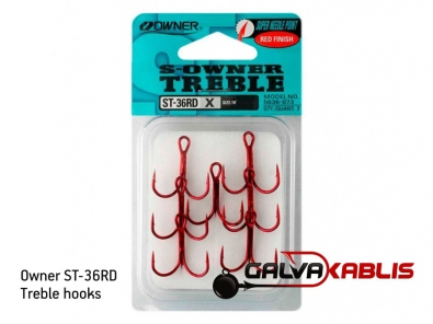 Owner ST-36RD treble hooks